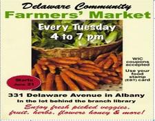 Delaware Community Farmers' Market, Albany NY