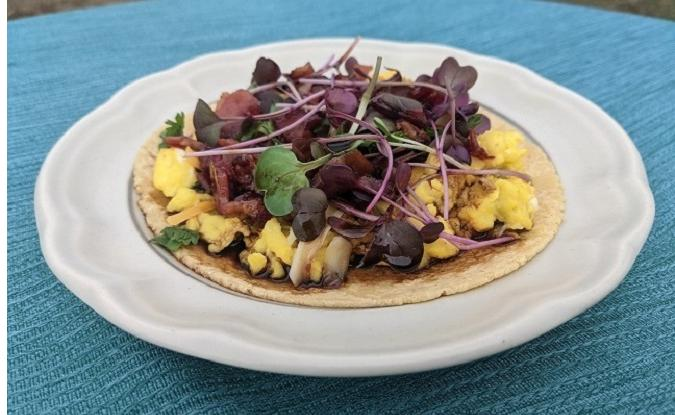 Farmers Market Breakfast Taco