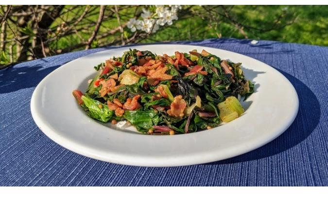 Spring Greens with Bacon